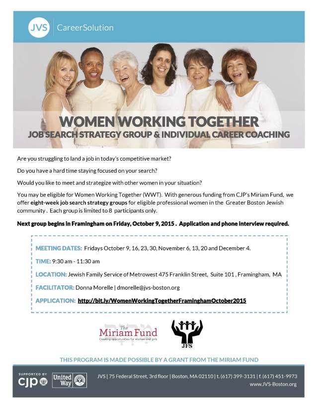 Women Working Together OCT 2015 Framingham