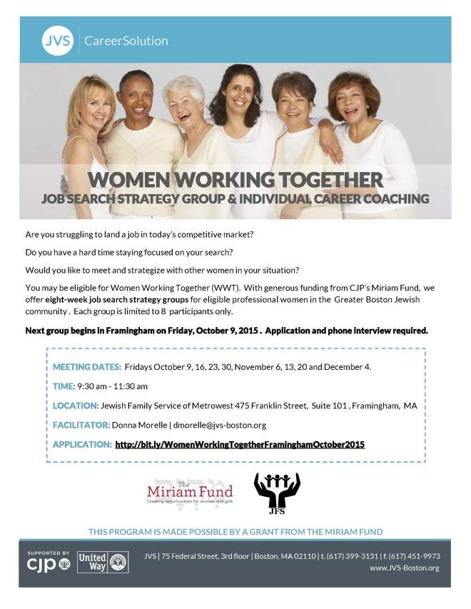 Women Working Together OCT 2015 Framingham