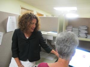 Beth Squires, a JVS Career Navigator for the Ready for Success program, provides practical support and guidance for eager job seekers.